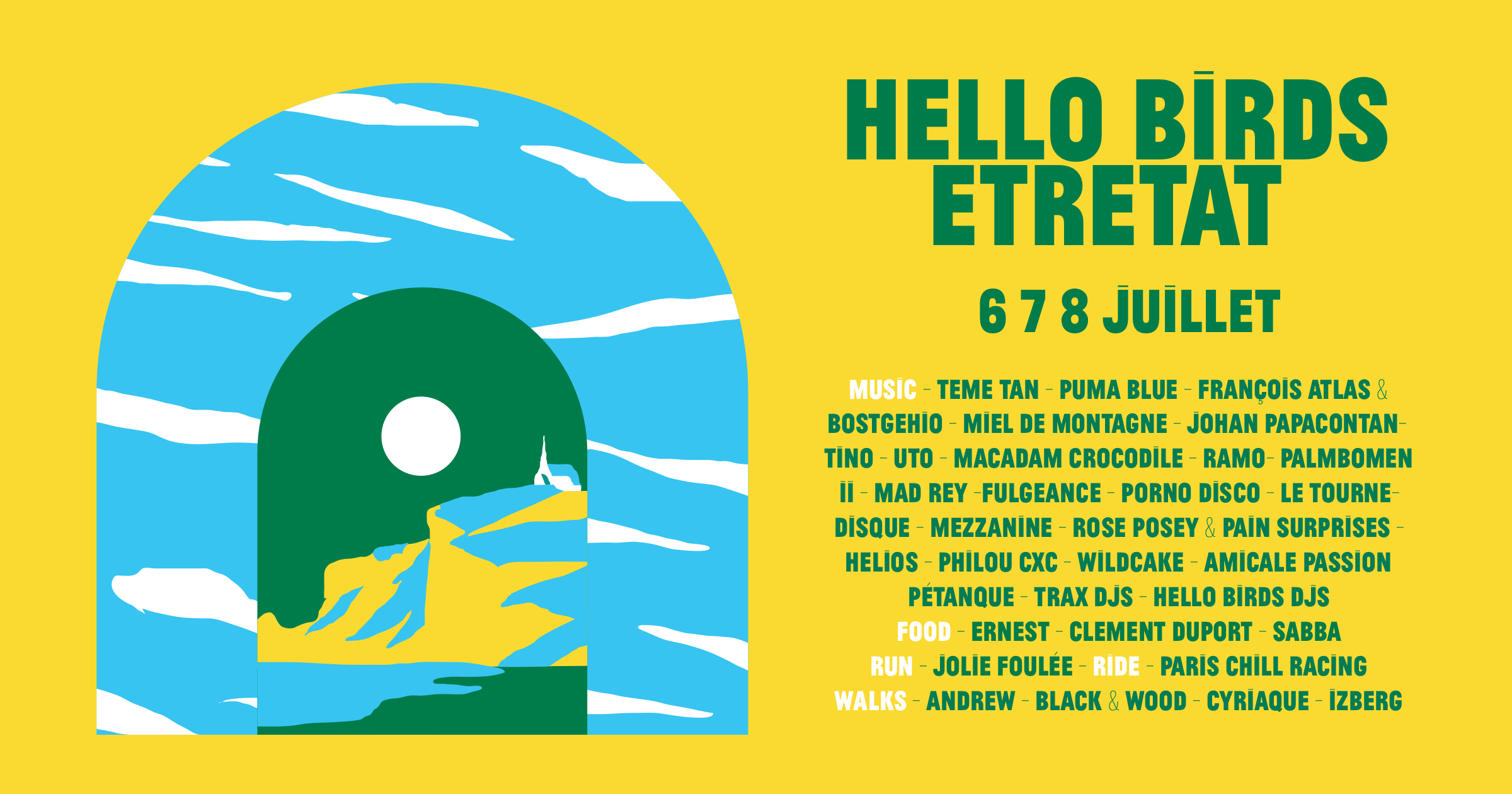 Hello Birds Festival Etretat